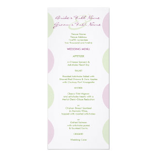 Purple Artichokes Wedding Menu Invitations