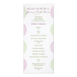 Purple Artichokes Wedding Program