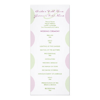 Purple Artichokes Wedding Program Personalized Invitations
