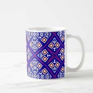 Purple artistic decorative design coffee mug