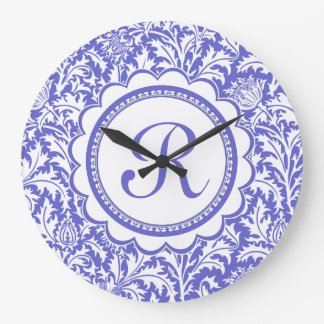 Purple Arts and Crafts William Morris Floral Wall Clocks