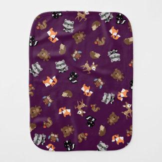 *Purple ascendente del paño del Burp del puré del Paños De Bebé