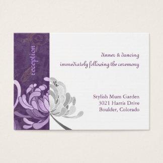 Purple Asian Mum Wedding Reception Business Card