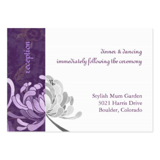 Purple Asian Mum Wedding Reception Card (3.5x2.5) Business Cards