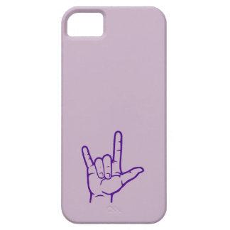 Purple ASL I Love You Custom Case