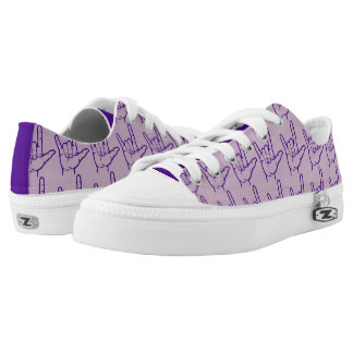 Purple ASL I Love You Lo Top