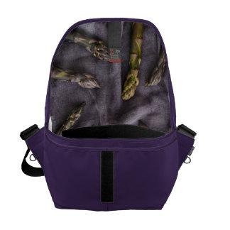 Purple asparagus courier bag