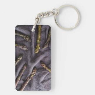 Purple asparagus keychain
