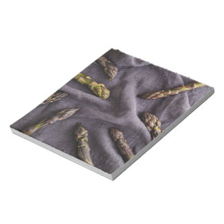 Purple asparagus notepad