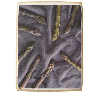 Purple asparagus shortbread cookie