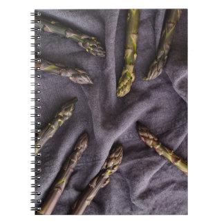 Purple asparagus spiral notebook