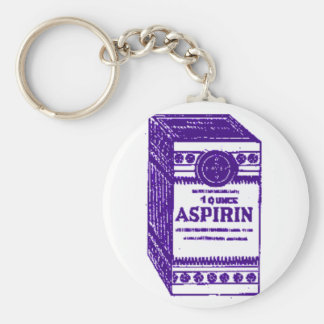 Purple Aspirin Keychain