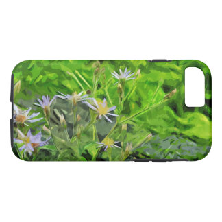 Purple Aster Among Charred Forest Abstract iPhone 7 Case