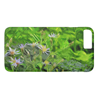 Purple Aster Among Charred Forest Abstract iPhone 7 Plus Case