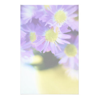 Purple Aster Bouquet Illustration Stationery