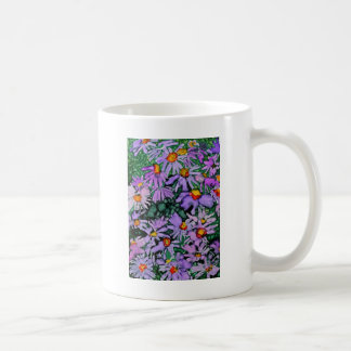 Purple Aster Flower Art Painting Coffee Mug