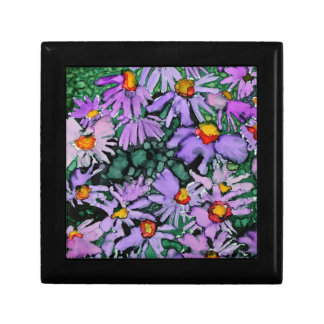 Purple Aster Flower Art Painting Jewelry Boxes