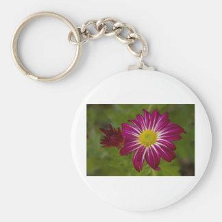 Purple Aster Flower Close up Keychain