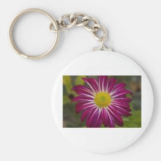 Purple Aster Flower Power Keychain