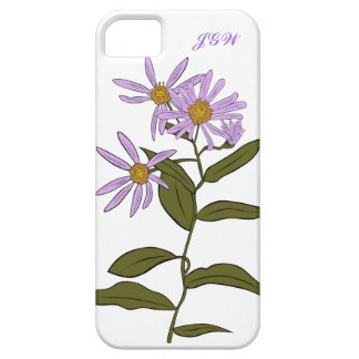 Purple Aster Flower Stem  with Blooms Custom iPhone SE/5/5s Case