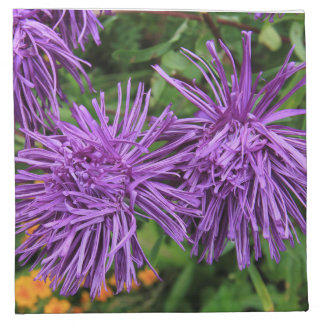 Purple Aster Flowers Cloth Napkin