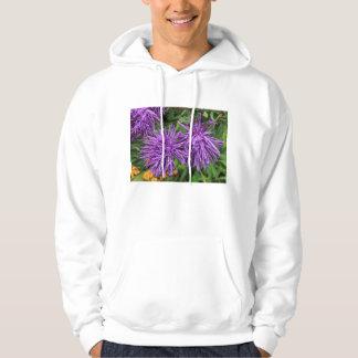 Purple Aster Flowers Hoodie