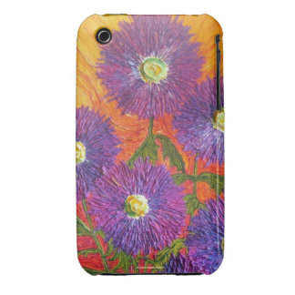 Purple Aster Flowers iPhone 3 Case