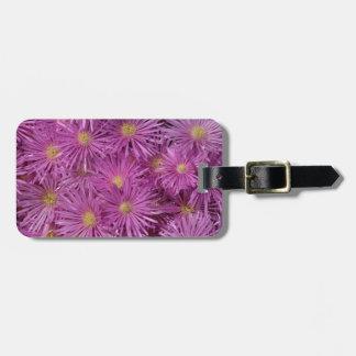 Purple Aster Flowers Luggage Tag