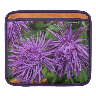Purple Aster Flowers Sleeves For iPads