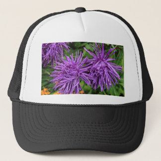 Purple Aster Flowers Trucker Hat