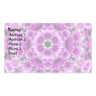 Purple ASter Kaleidoscope Double-Sided Standard Business Cards (Pack Of 100)
