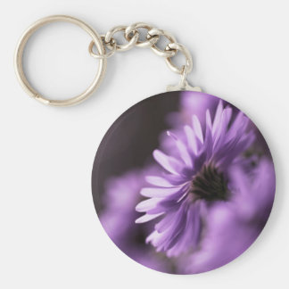 Purple Aster Keychain