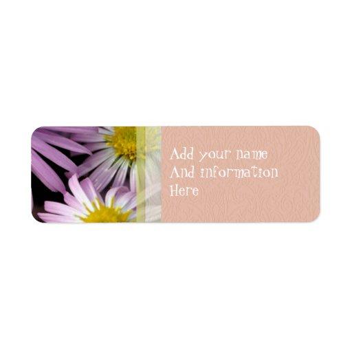 Purple Aster Return Address Label
