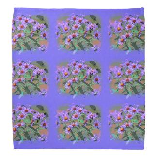 purple asters bandana