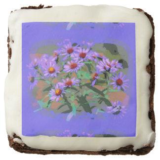 purple asters brownies square brownie