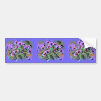 purple asters bumper sticker