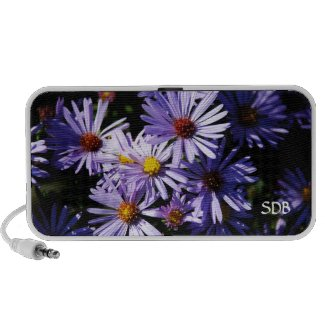 Purple Asters Doodle MP3 Speaker