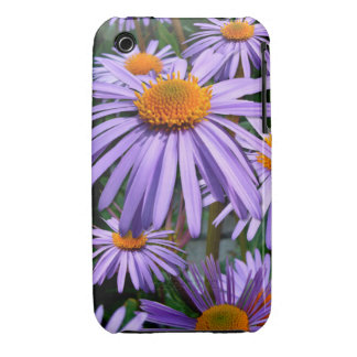 Purple Asters iPhone 3 case