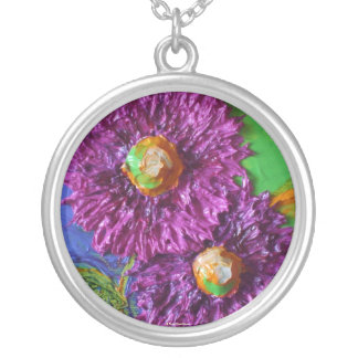 Purple Asters Necklace