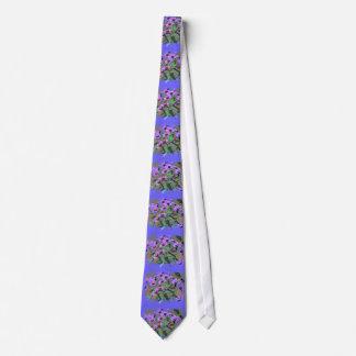 purple asters  tie