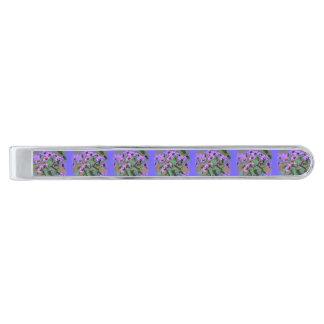 purple asters tie bar