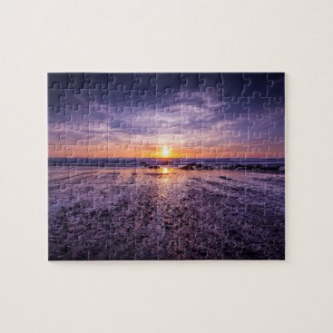 Purple Atlantic Sunset Jigsaw Puzzle