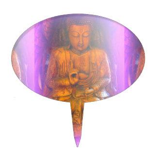 purple aura buddha cake pick