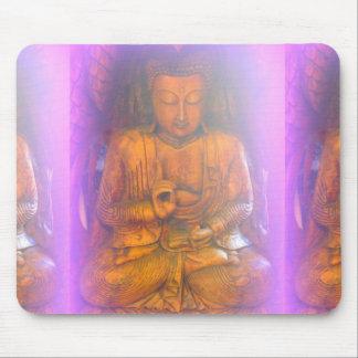 purple aura buddha mousepad