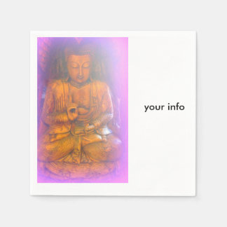 purple aura buddha paper napkins