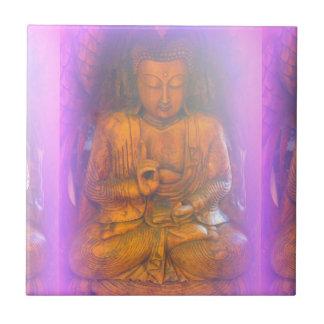 purple aura sitting buddha tile