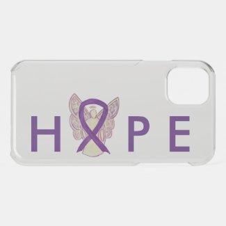 Purple Awareness Angel Ribbon Custom iPhone Case