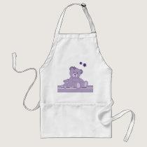Purple Awareness Bears Adult Apron