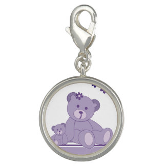Purple Awareness Bears Charm