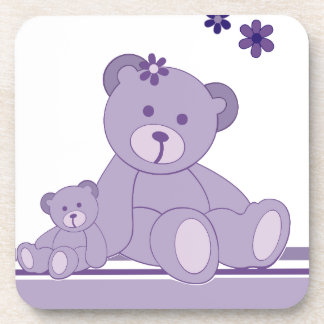 Purple Awareness Bears Beverage Coaster